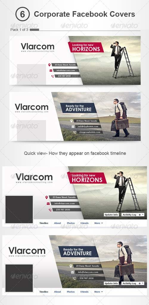 GraphicRiver Corporate Facebook Timeline Covers