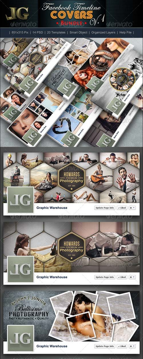 GraphicRiver Facebook Timeline Covers Bundle
