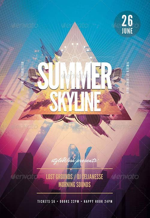 GraphicRiver Summer Skyline Flyer