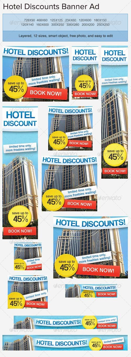 GraphicRiver Hotel Accommodation Banner Ad