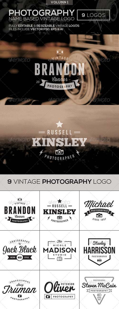 GraphicRiver Vintage Photography Logo 01
