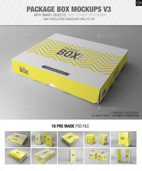 GraphicRiver Package Box Mockups Vol3