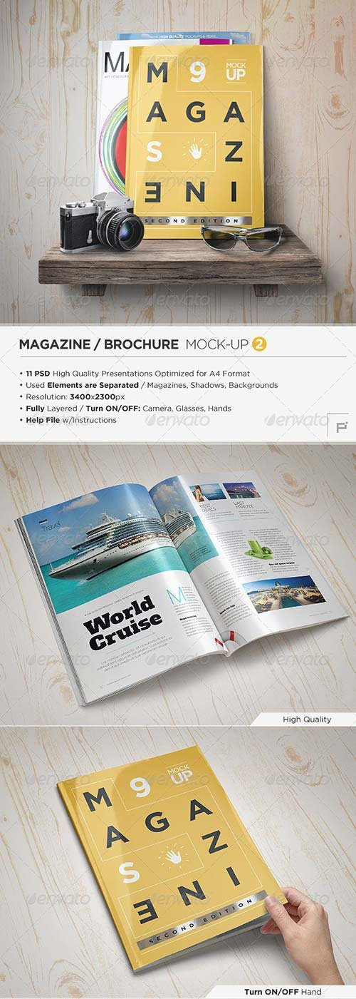 GraphicRiver Magazine Mock-Up Set - 2