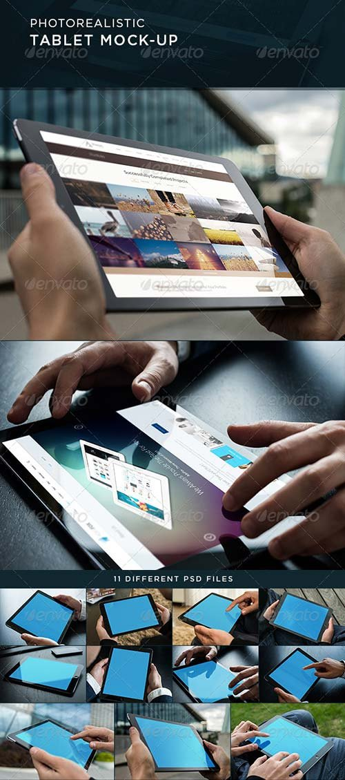 GraphicRiver Photorealistic Tablet Mock-Up