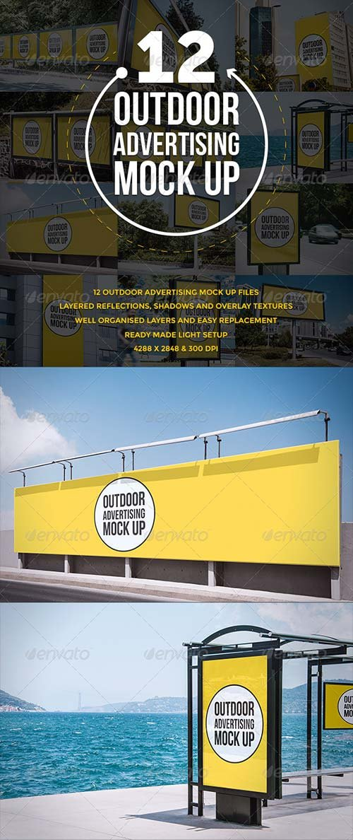GraphicRiver Outdoor Advertising Mock Up