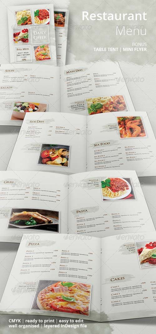 GraphicRiver Restaurant Food Menu