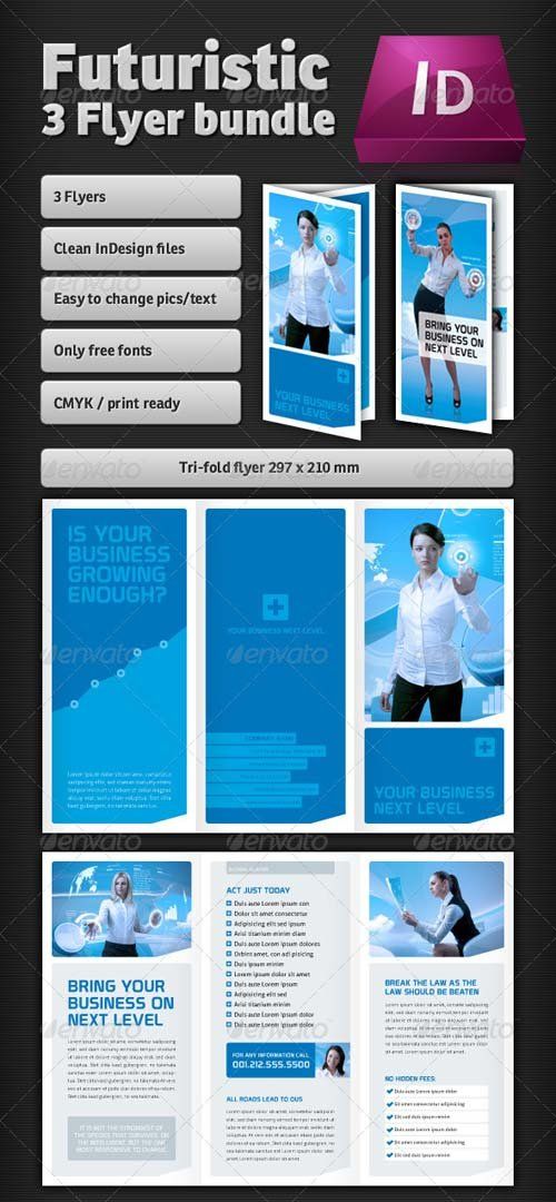 GraphicRiver Futuristic Flyer Bundle