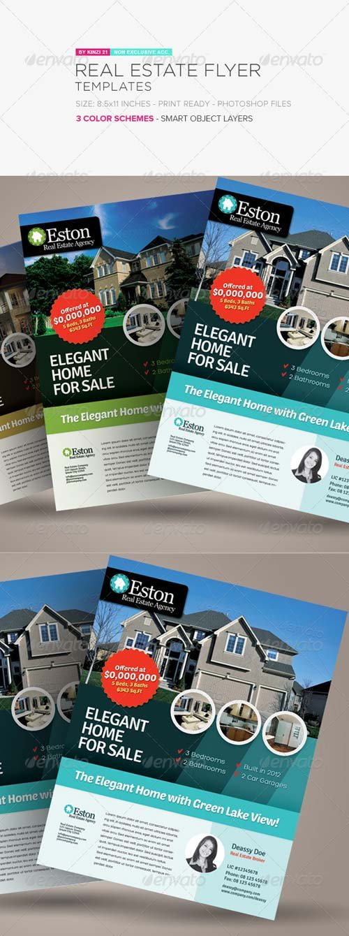 GraphicRiver Real Estate Flyer Templates