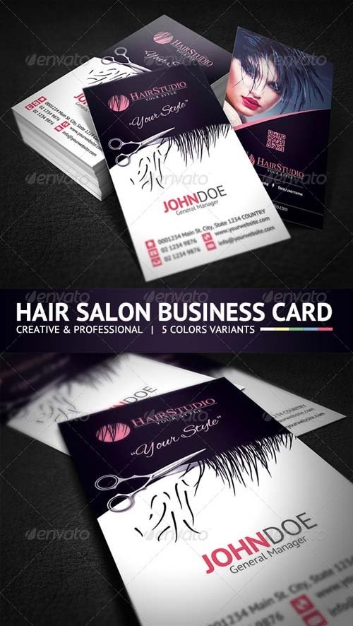 GraphicRiver Creative Hair Salon Business Card