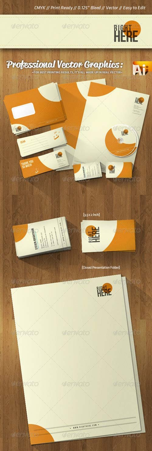 GraphicRiver Professional Corporate Identity Retro Style Colors