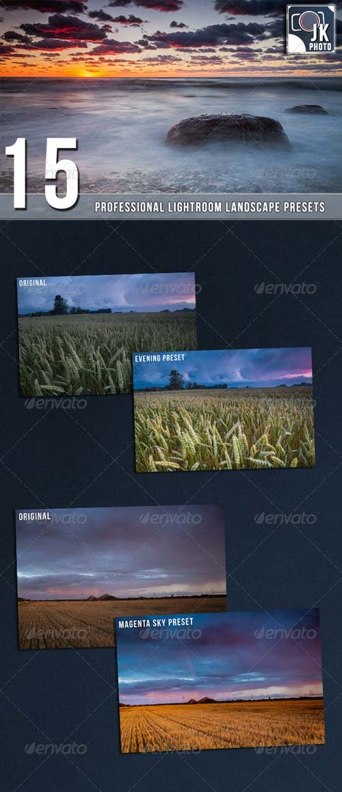 GraphicRiver 15 PRO Landscape and Nature Lightroom presets