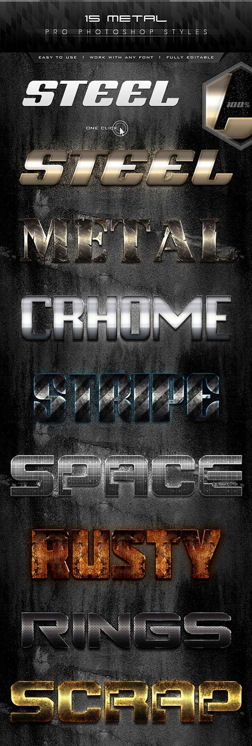 GraphicRiver 15 Metal Pro Styles
