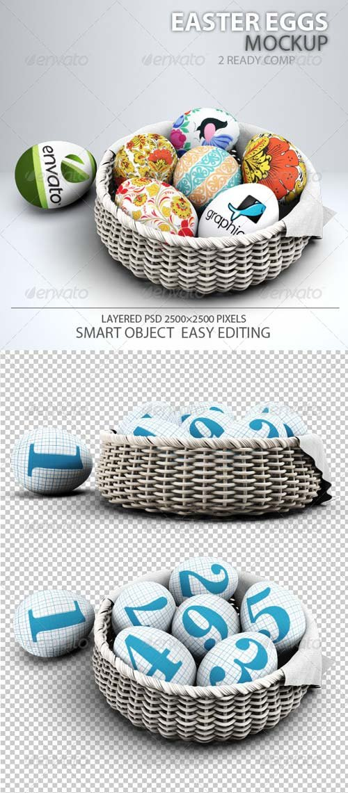 GraphicRiver Easter Eggs Mock-up