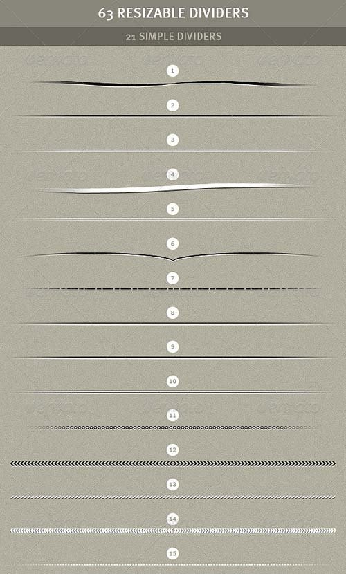 GraphicRiver 63 Resizable Dividers