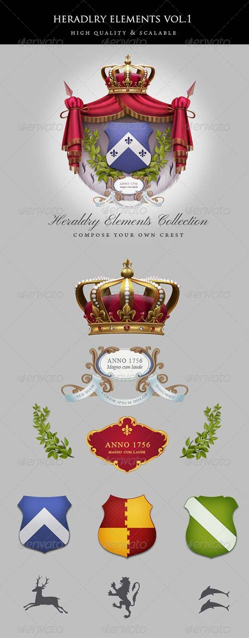 GraphicRiver Vintage Heraldry Elements
