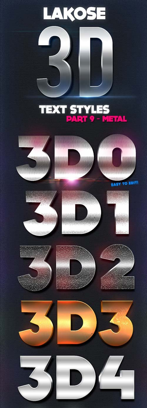 GraphicRiver Lakose 3D Text Styles Part 9