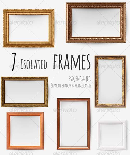 GraphicRiver 7 Isolated Picture Frames