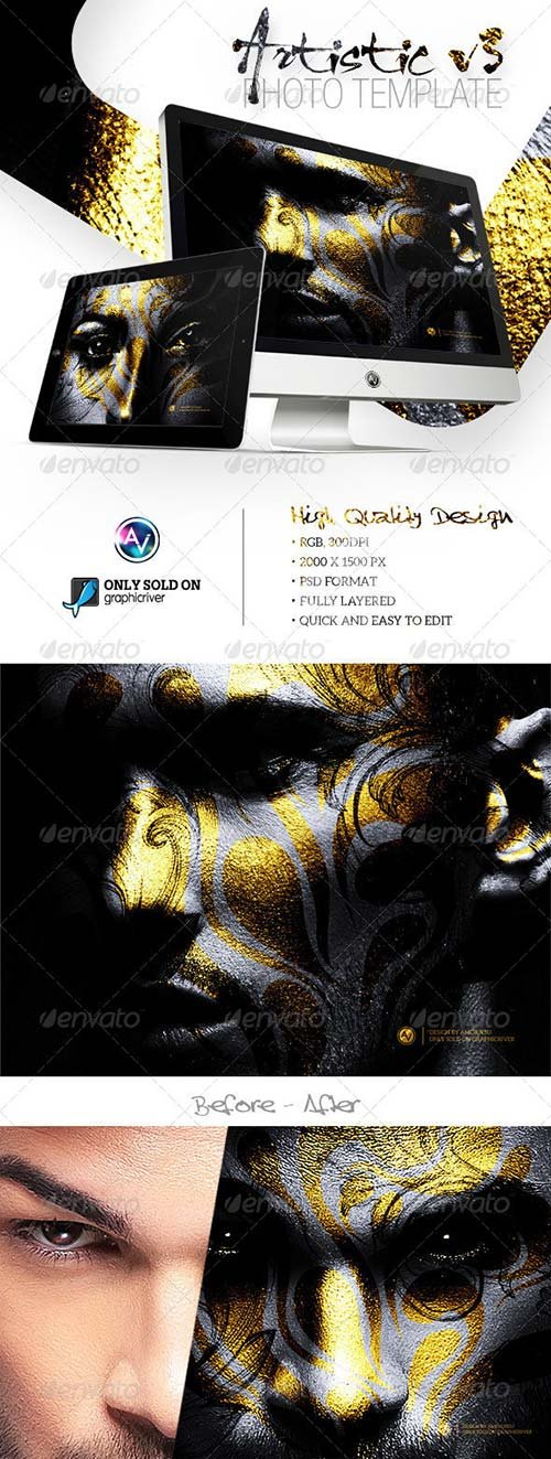 GraphicRiver Artistic Photo Template V3