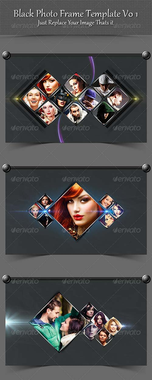 GraphicRiver Black Photo Frame Template V01
