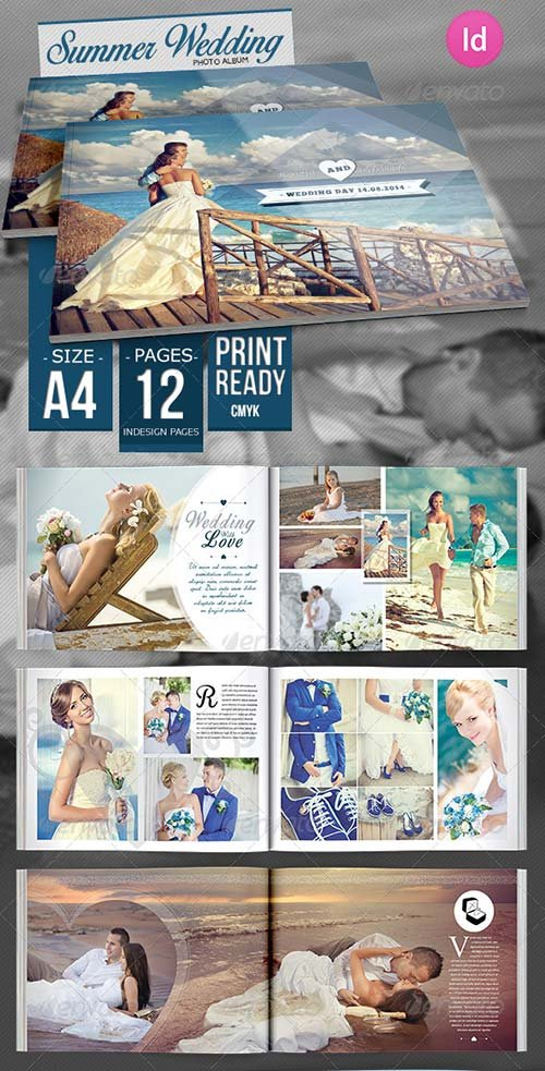 GraphicRiver Summer Wedding Photo Album