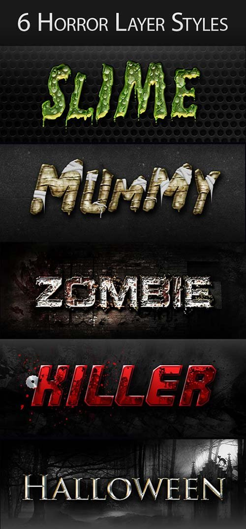 GraphicRiver Horror Halloween Creepy Layer Styles Text Effects