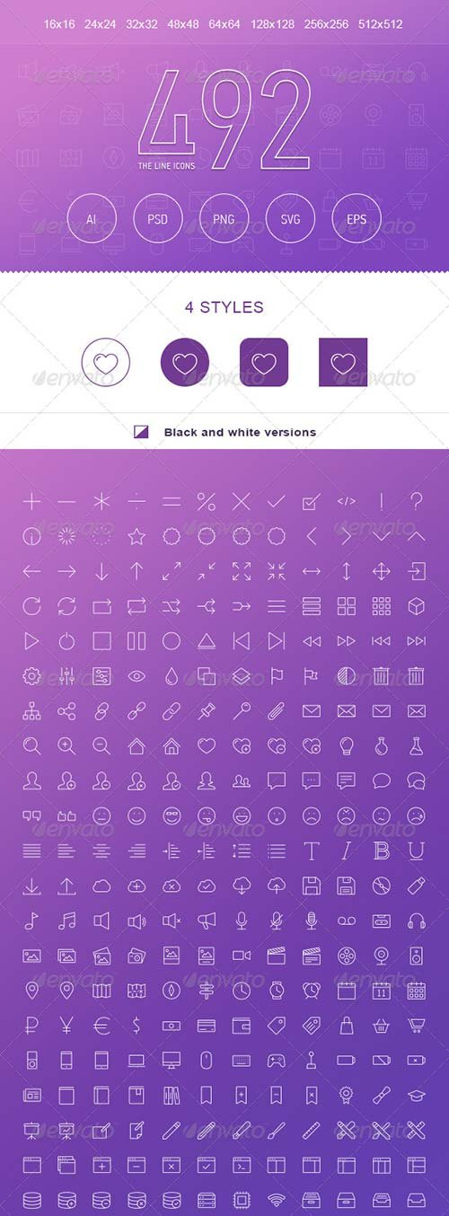 GraphicRiver The Line Icons 492