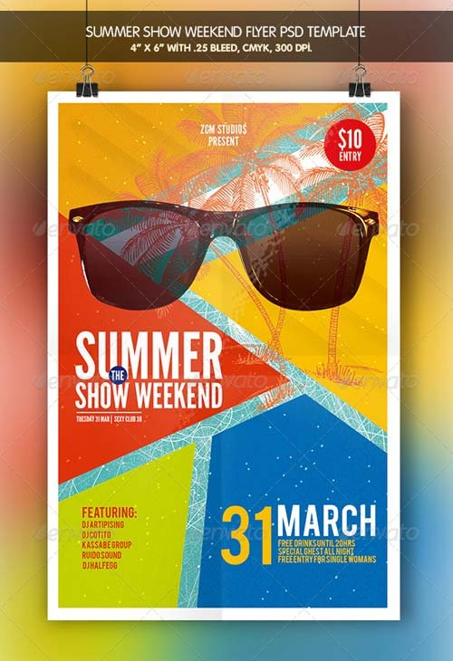 GraphicRiver Summer Show | Flyer Bundle