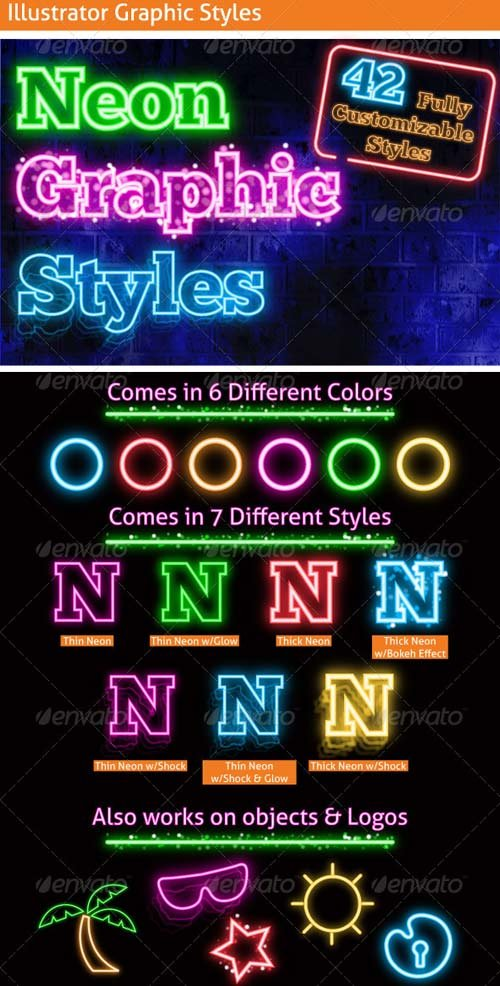 GraphicRiver Neon Graphic Styles