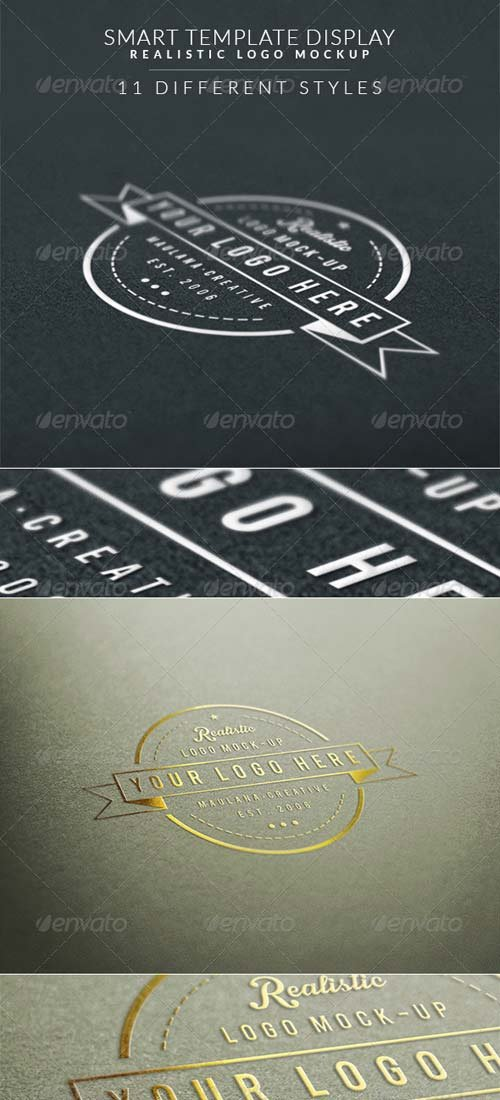 GraphicRiver Smart Template Display Realistic Logo Mockup