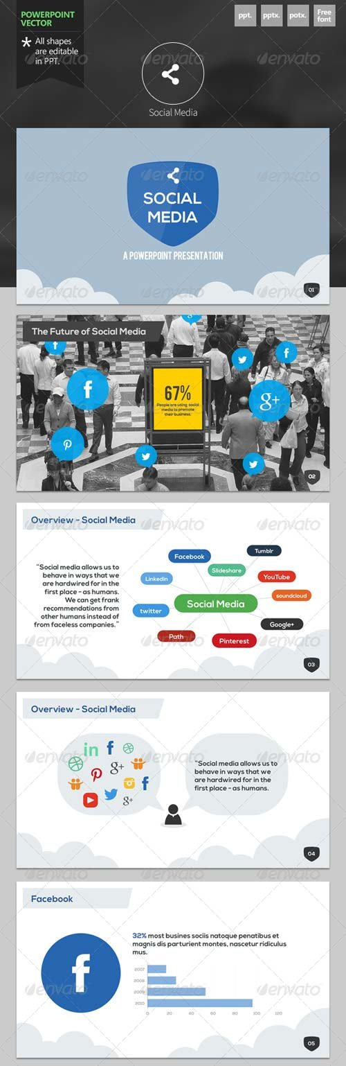 GraphicRiver Social Media - Powerpoint Template