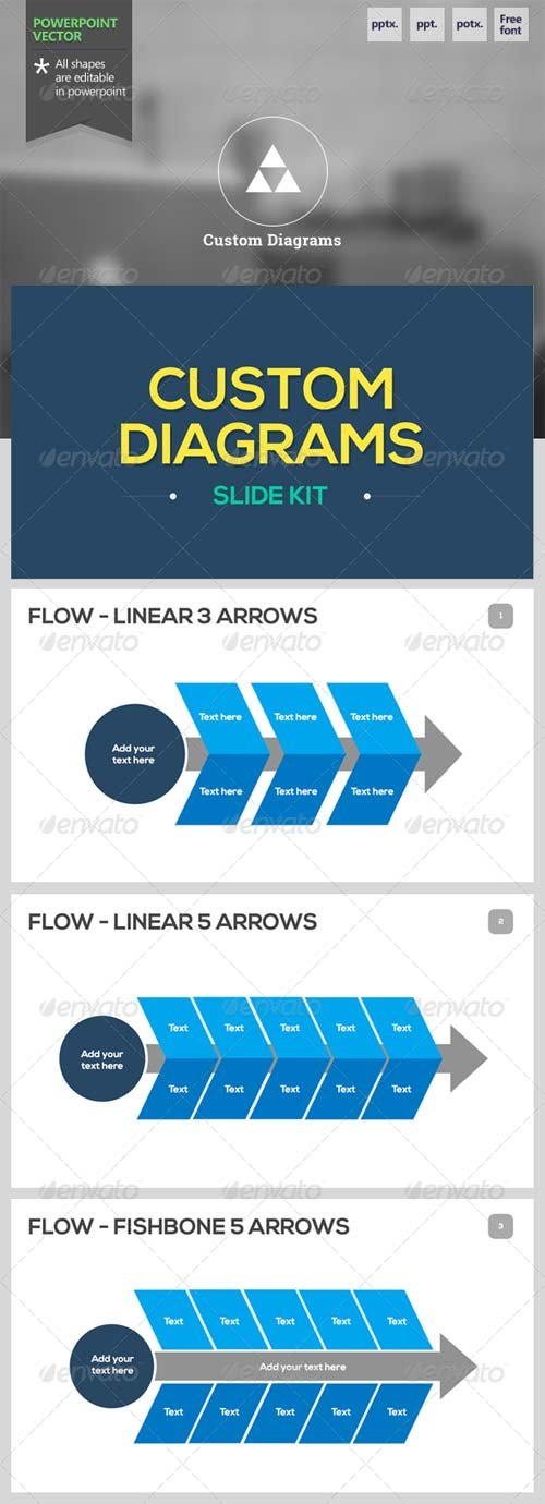 GraphicRiver Custom Diagrams - Powerpoint Template