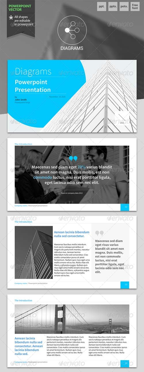 GraphicRiver Diagrams - Powerpoint Template