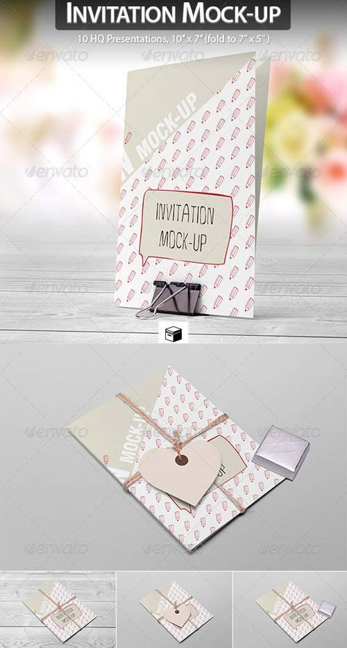 GraphicRiver Invitation / Greeting Card Mock-up