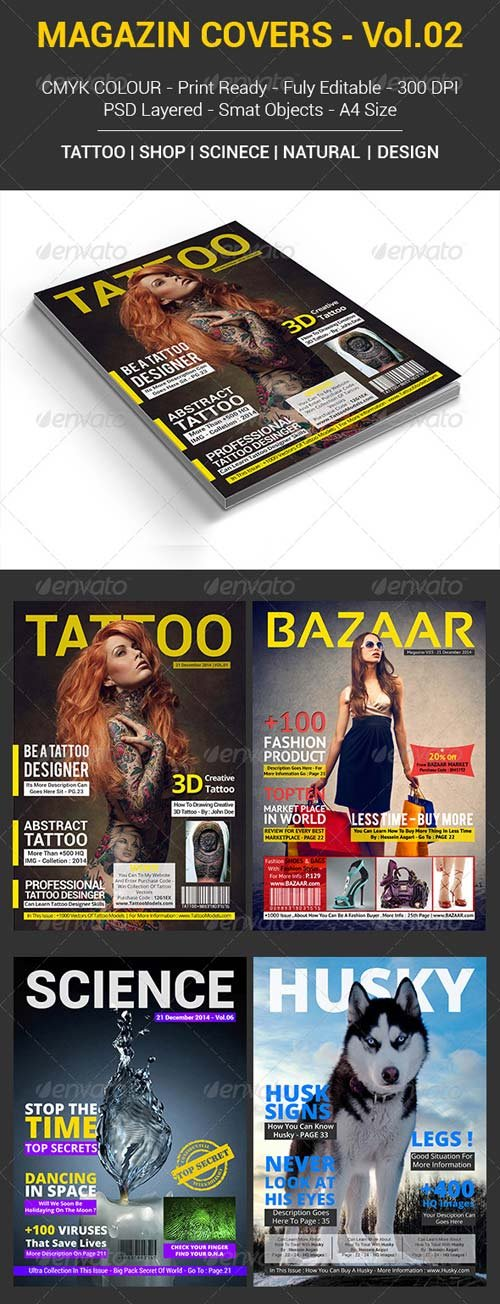 GraphicRiver 5 Magazine Covers | Vol.02