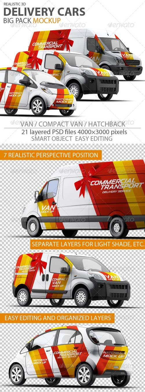 GraphicRiver Cars Mock-up