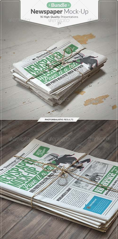 GraphicRiver Newspaper Mock-up Bundle