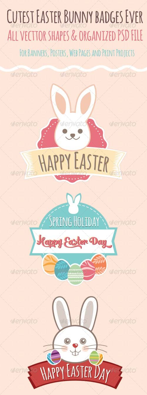 GraphicRiver Easter Badges