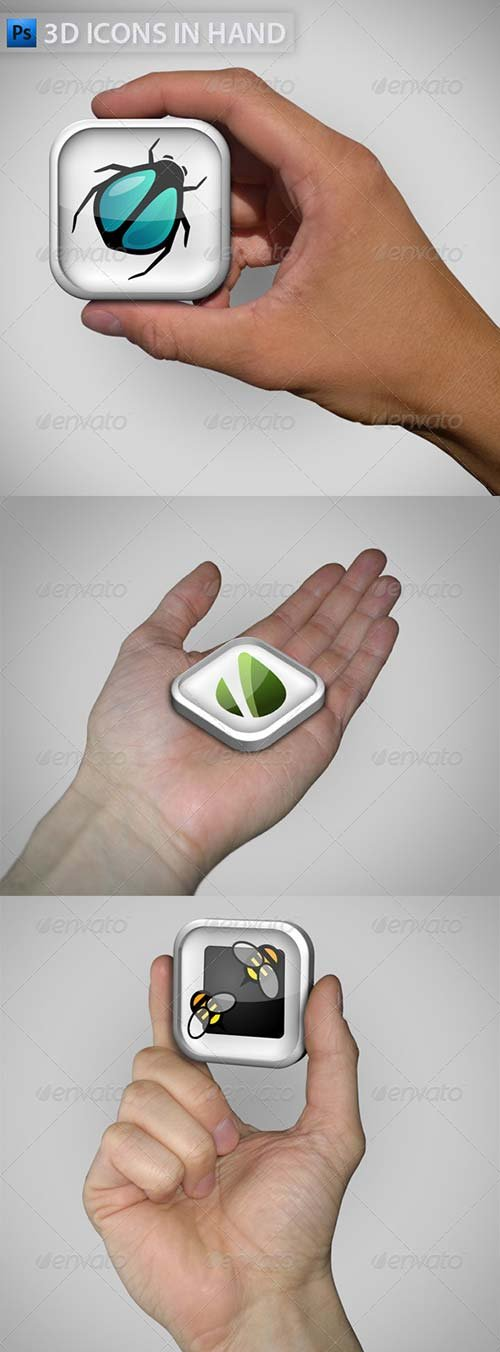 GraphicRiver 3D Icon in Hand