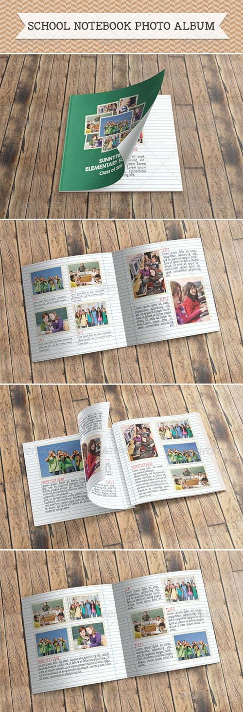 GraphicRiver School Notebook Photo Album