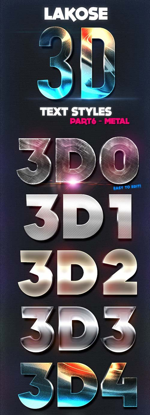 GraphicRiver Lakose 3D Text Styles Part 6