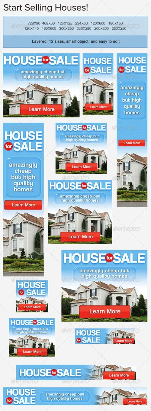 GraphicRiver House for Sale Banner Ad PSD Template