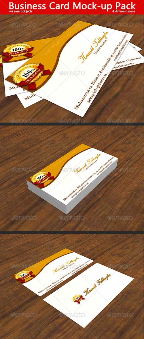 GraphicRiver Business Card Mock-Up 5042392