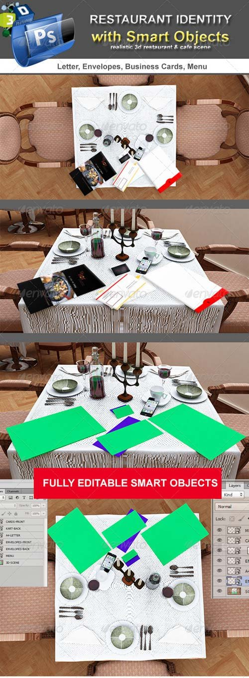 GraphicRiver Table Scenes Restorant Identity