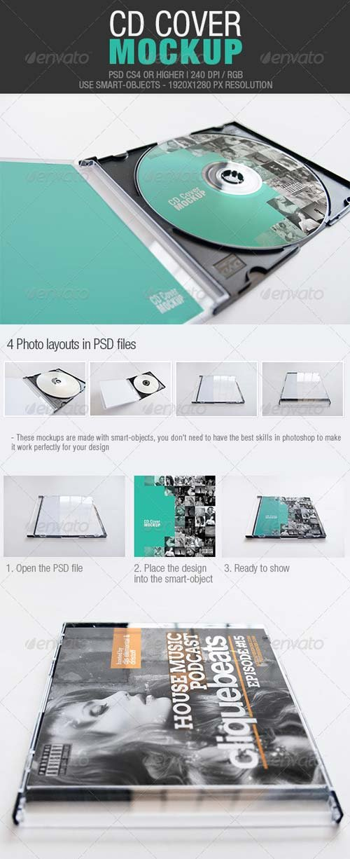 GraphicRiver CD Cover Mockup