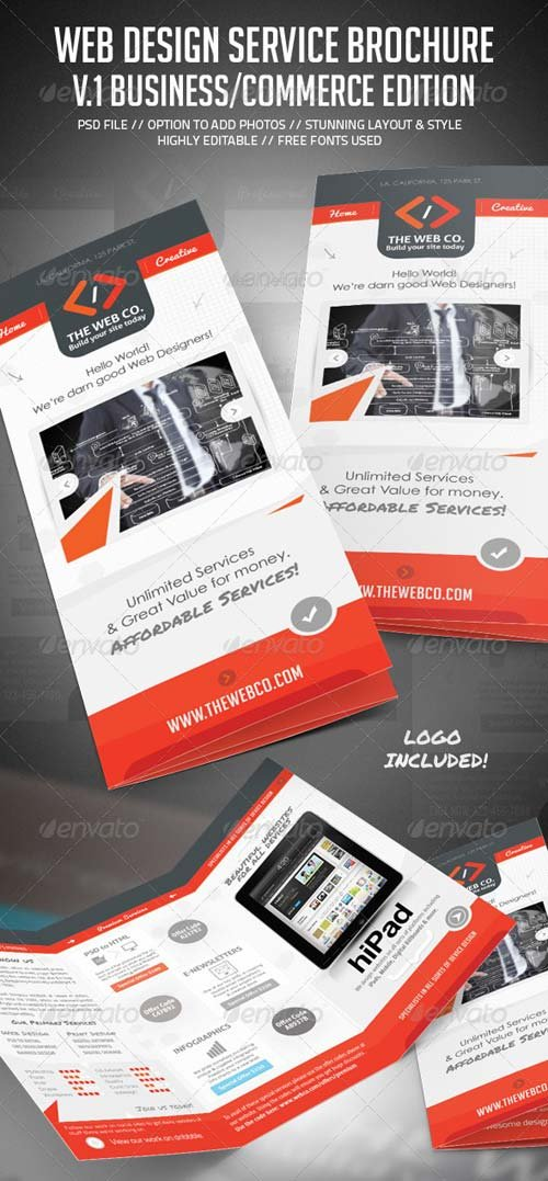 GraphicRiver Web Service & Business Brochure V.1