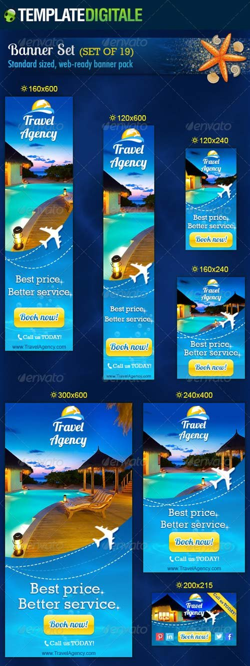 GraphicRiver Travel Agency Banner Set