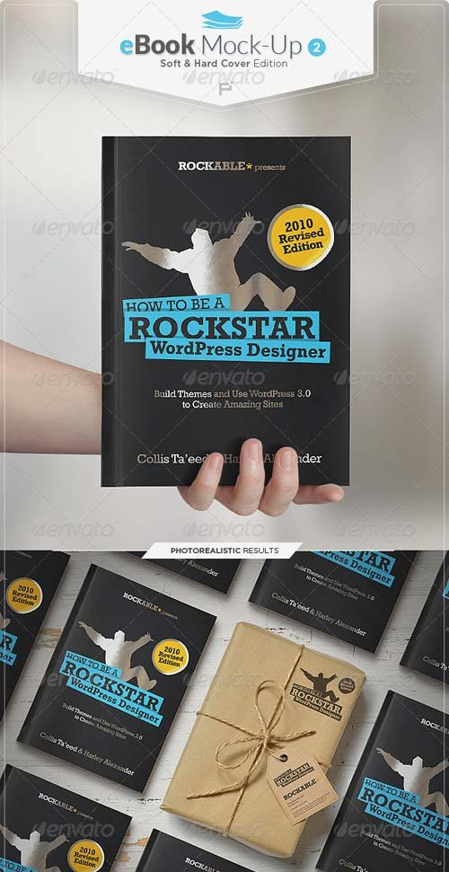 GraphicRiver eBook Mock-Up Set 2 / Soft & Hard Cover Edition