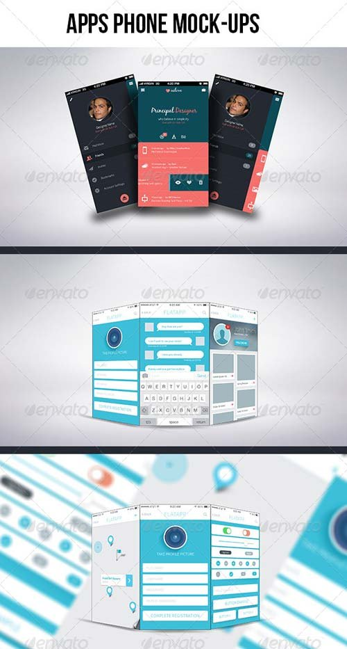 GraphicRiver Apps Phone Mock-ups