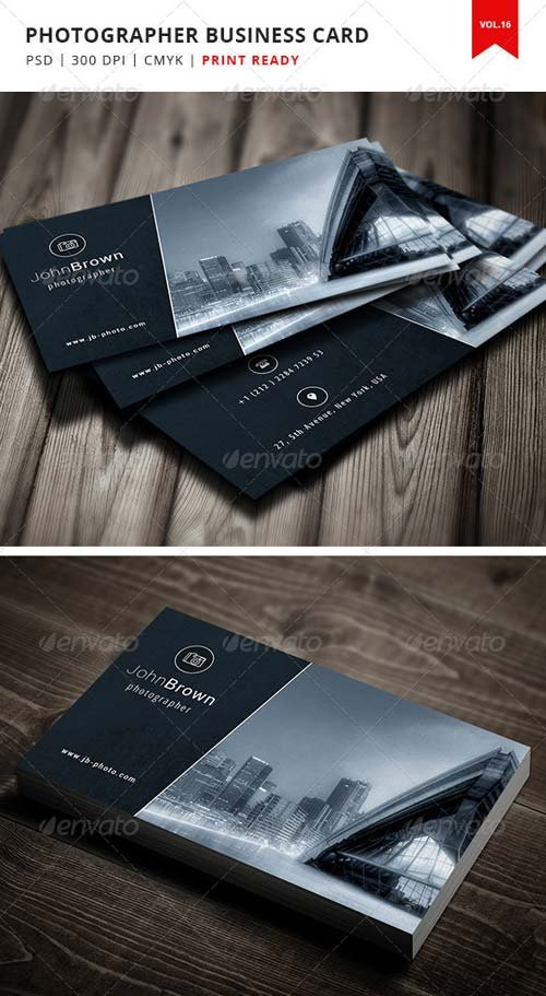 GraphicRiver Photographer Business Card - Vol.16