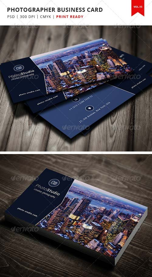 GraphicRiver Photographer Business Card - Vol.15